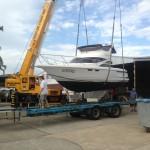 Fastlane 30 Flybridge Cruiser Noosa short haul